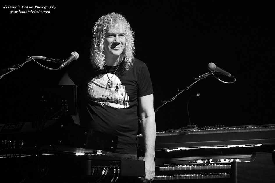 David Bryan playing with Bon Jovi in London